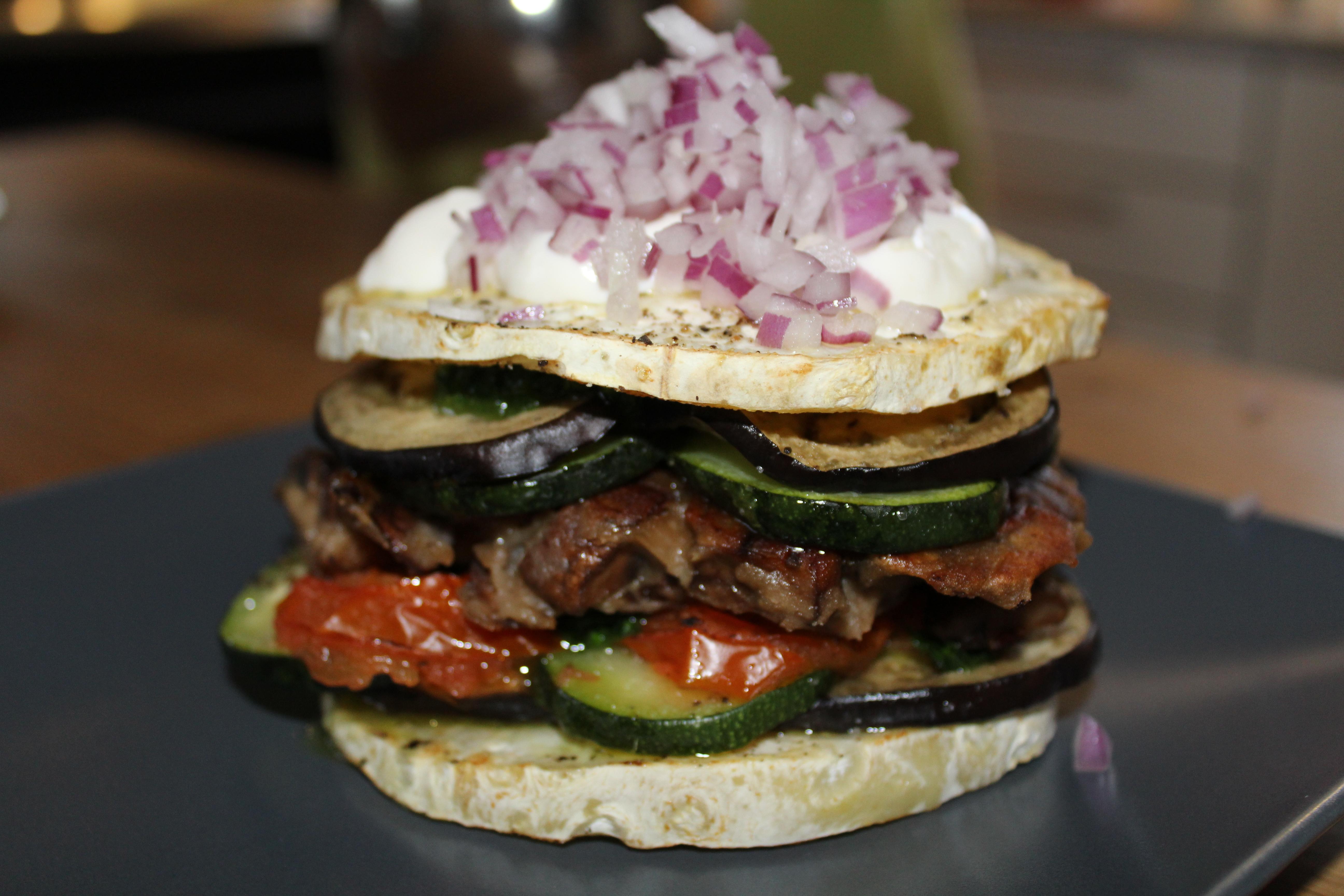 Vegansk forkælelses burger