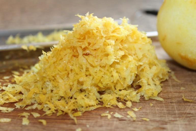 Fintrevet citronskal