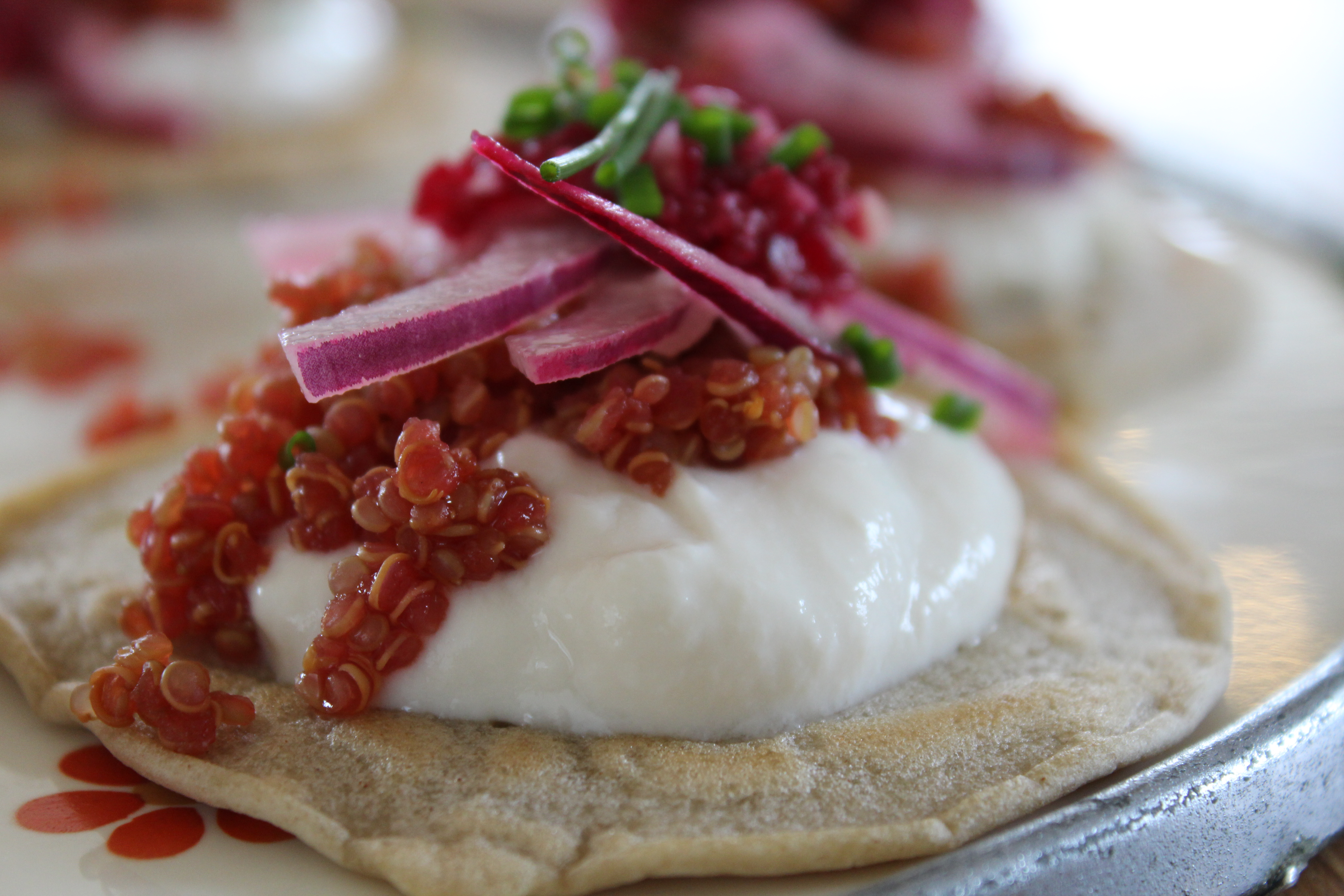 Blinis med quinoa-rogn