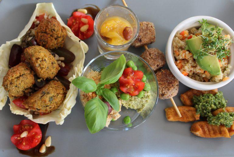 Tallerken med veganske tapas
