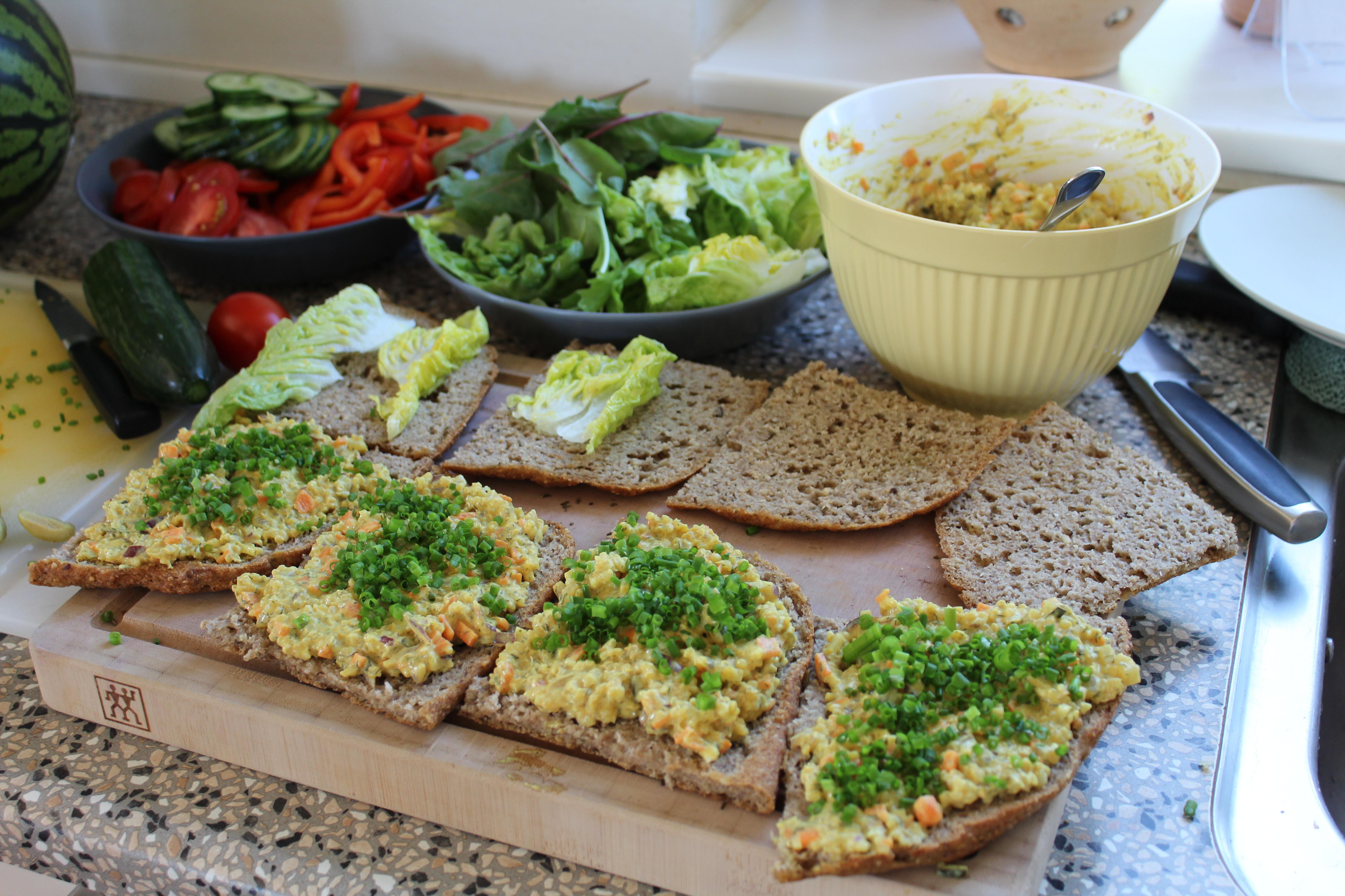 På vej mod quinoasalat-sandwich
