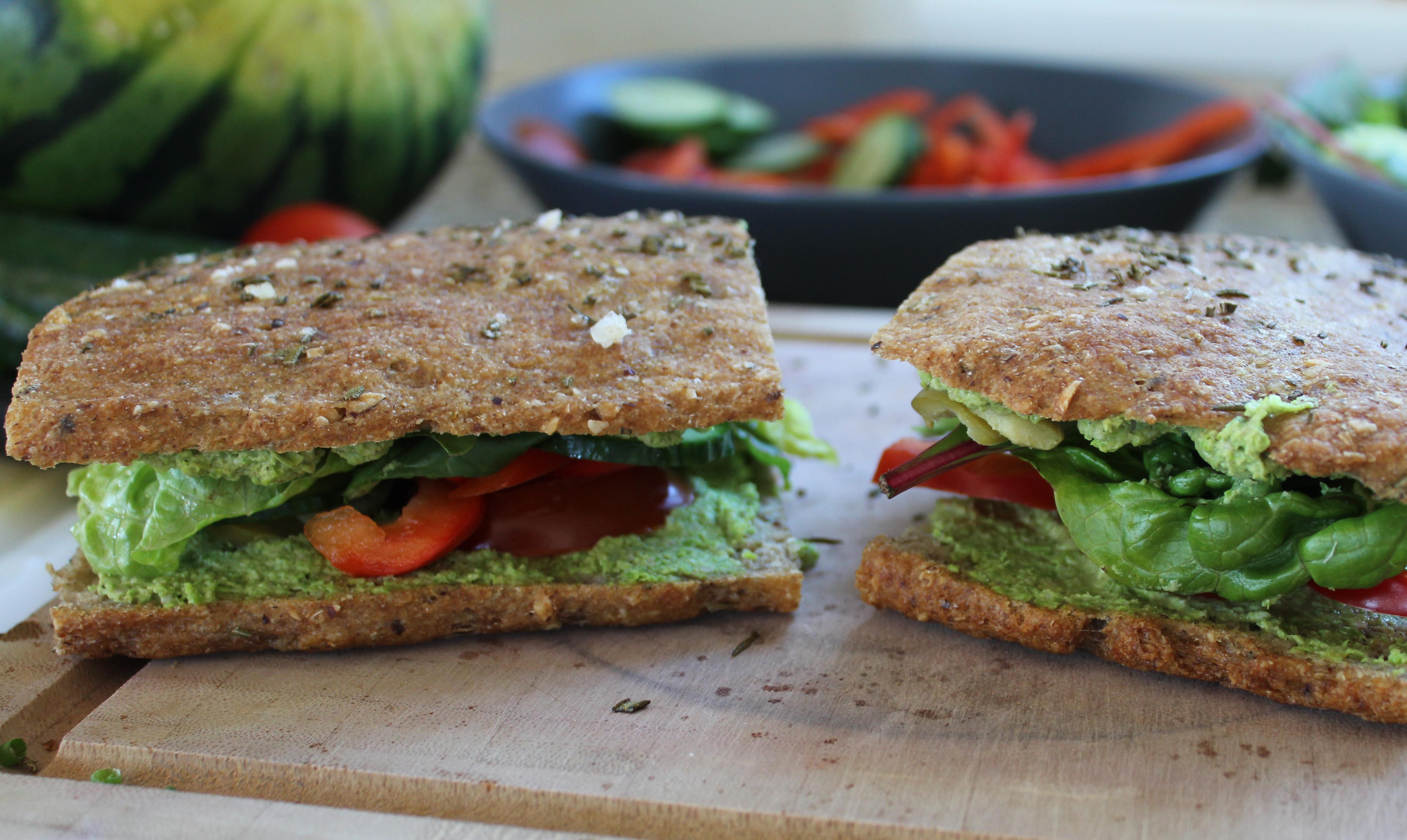Sandwich med ærtespread