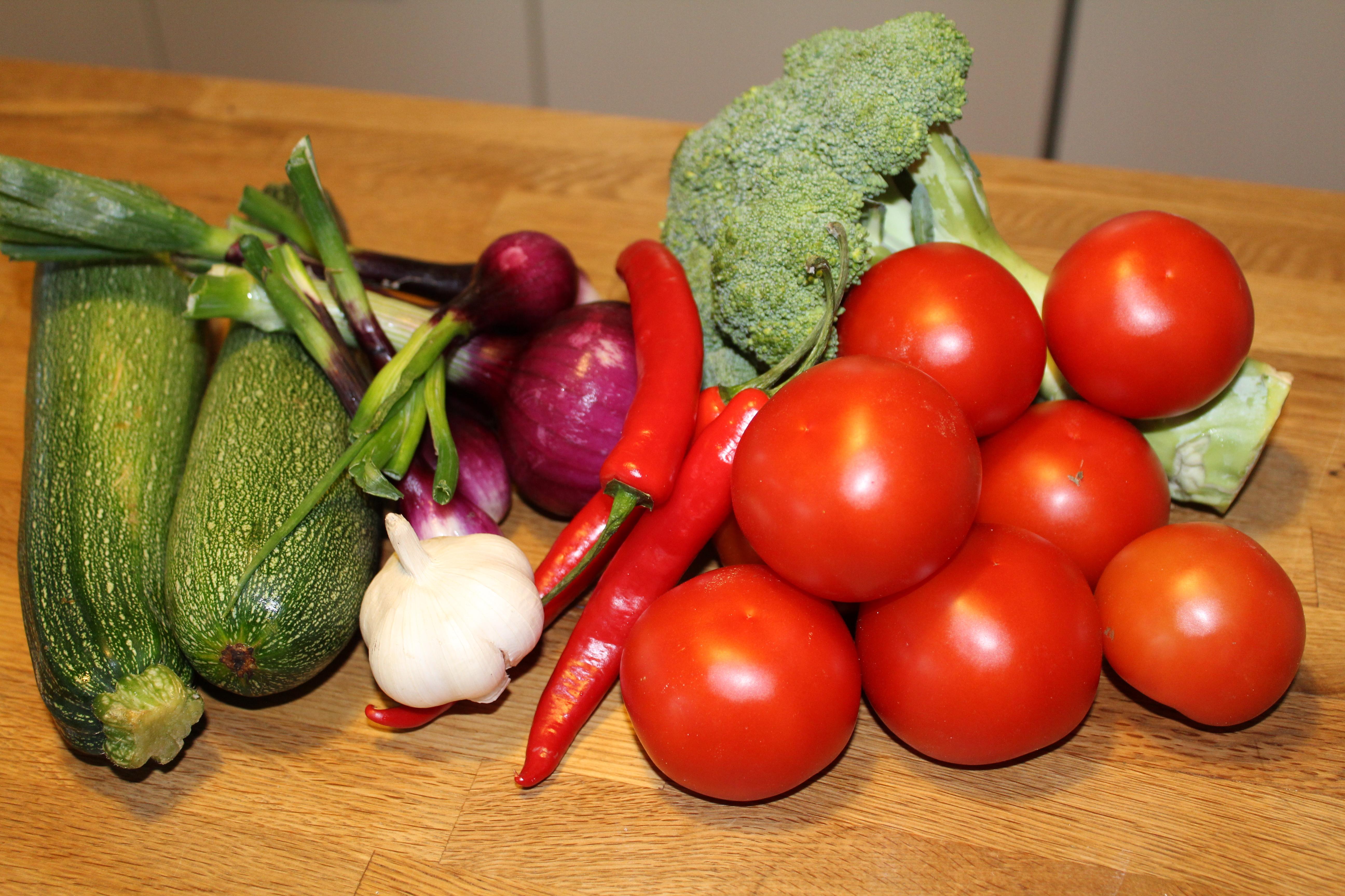Friske grøntsager til chili goji gryde