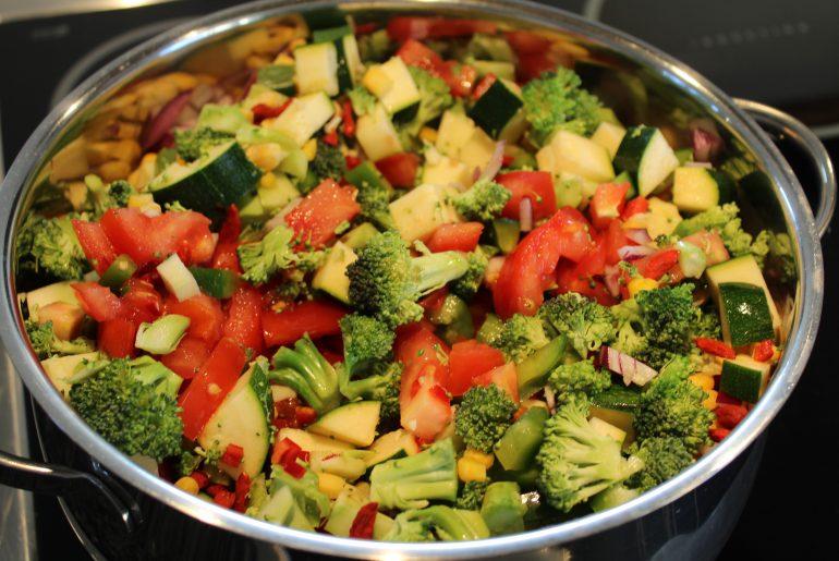 Ingredienser til chili-goji-gryde
