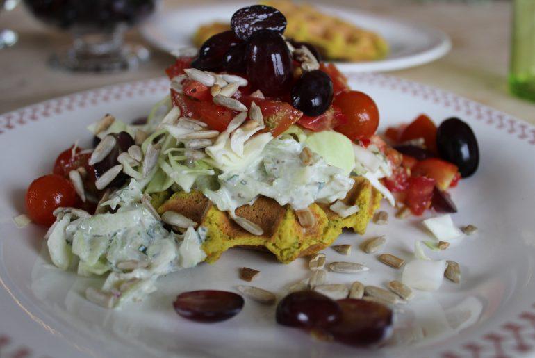 Falafel-vaffel