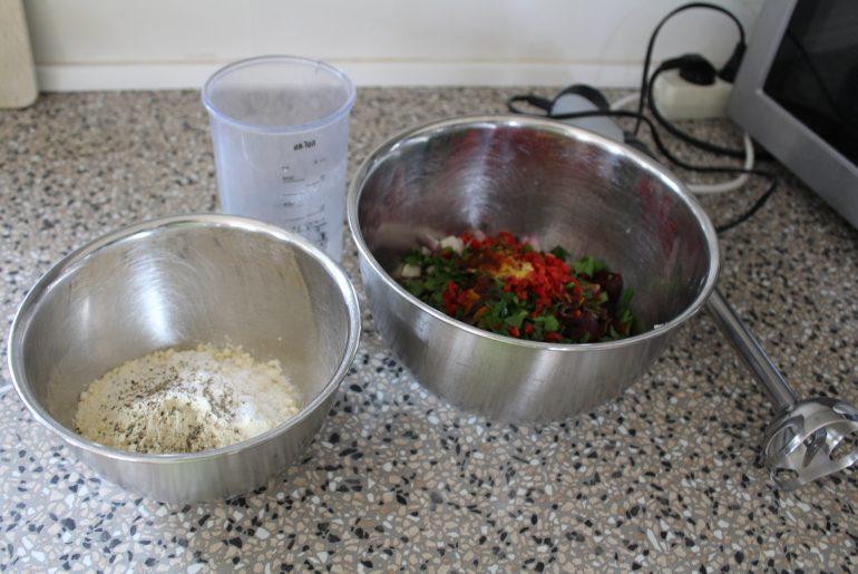 ingredienser til rødbedevafle