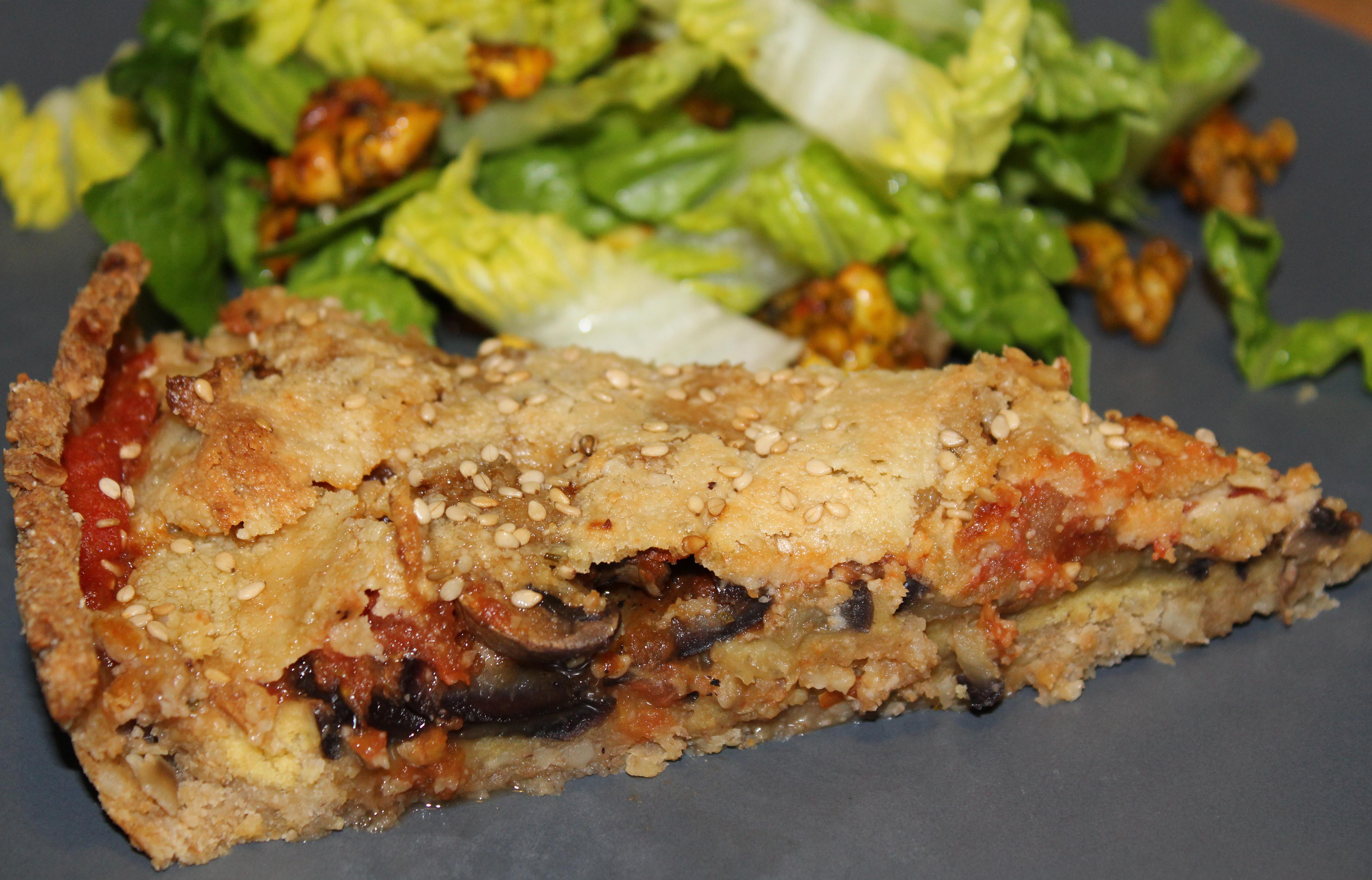 Vegansk aubergine tærte