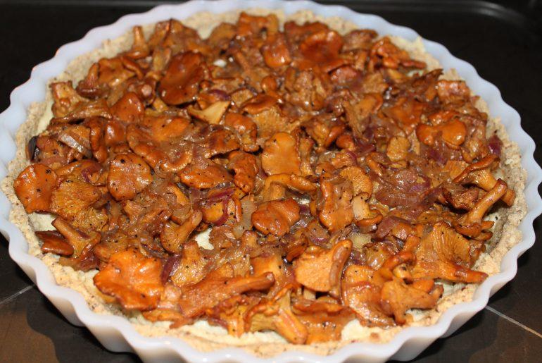 Vegansk kantareltærte