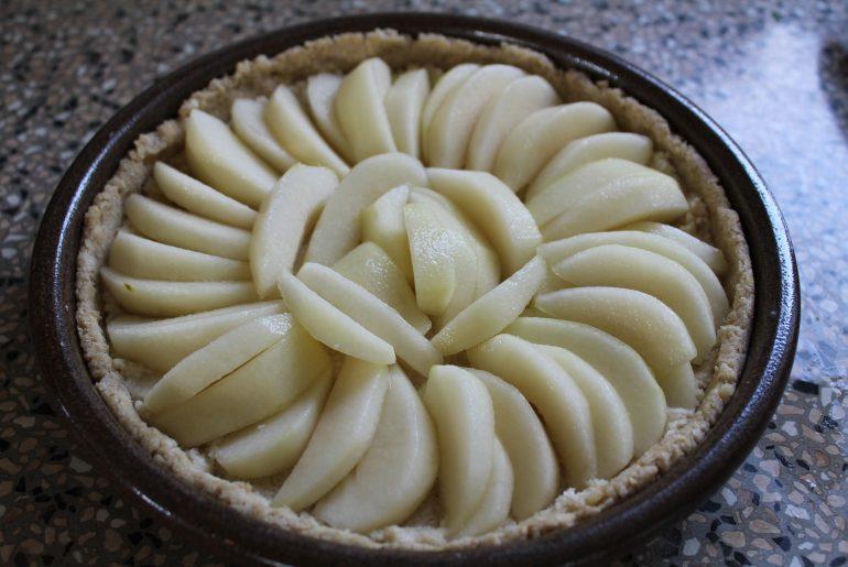 Vegansk pæretærte