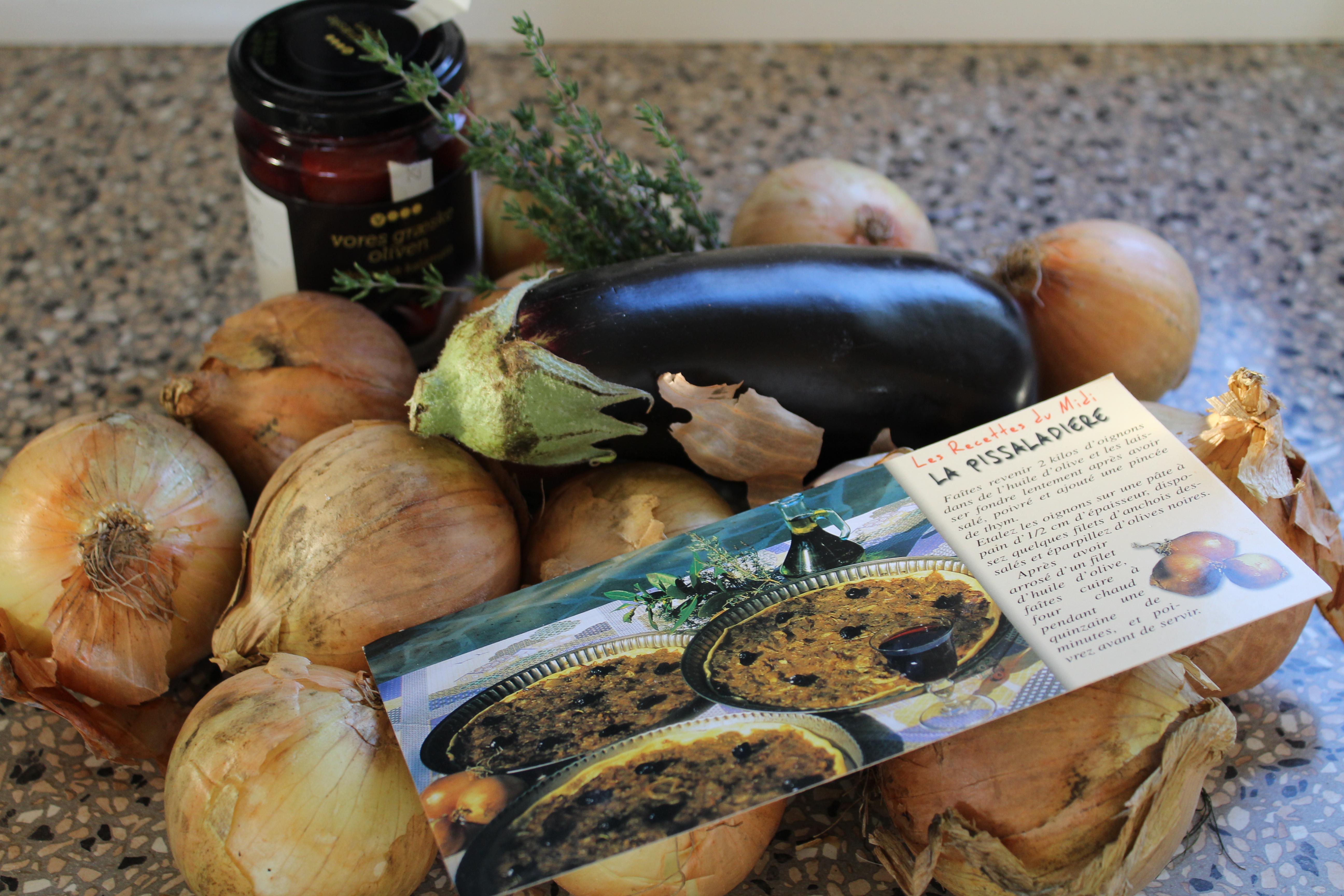 Ingredienser til vegansk løgtærte