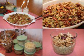 Vegansk brunch med mangochiagrød og bagte bær