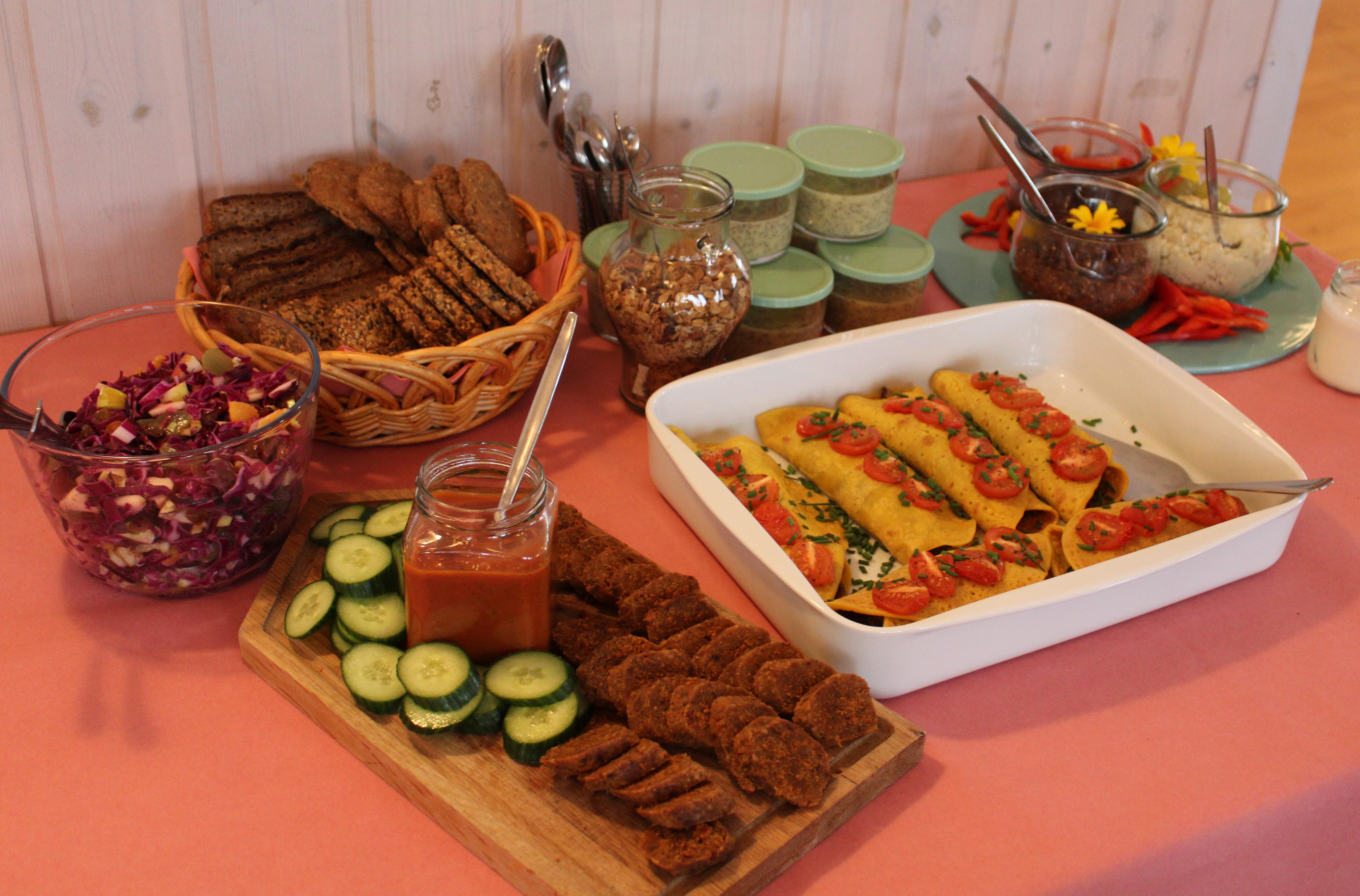 Vegansk brunchbuffet