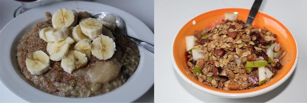 Powergrød og sojayoghurt med granula