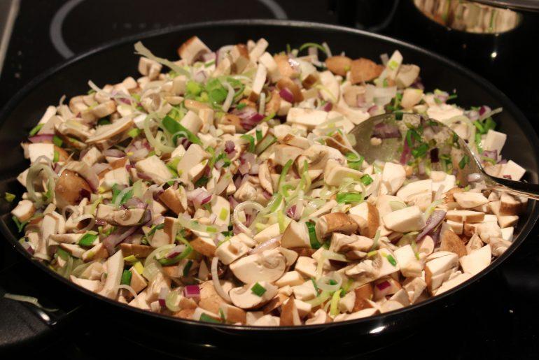 Ingredienser til svampepostej