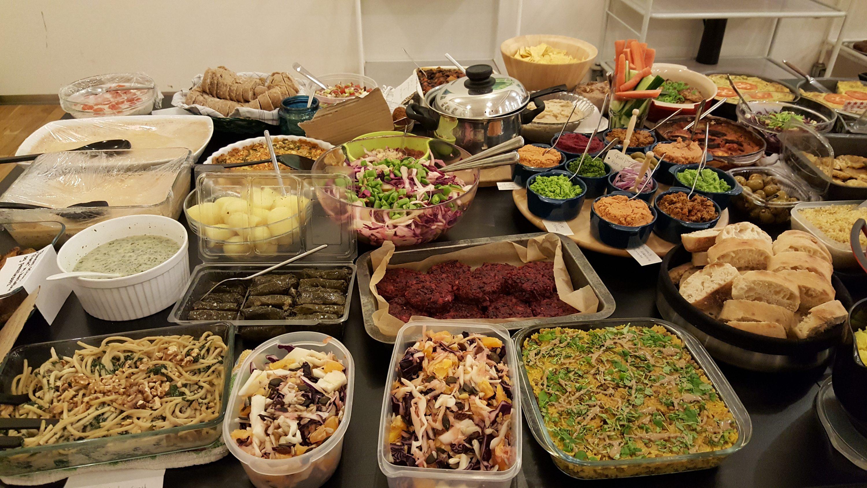 Vegansk fællesbuffet
