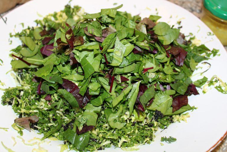 Grønkål, rosenkål og babysalat