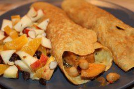 Pandekager med indisk curry