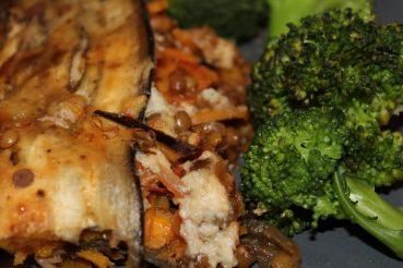 Vegansk musaka med søde kartofler og aubergine