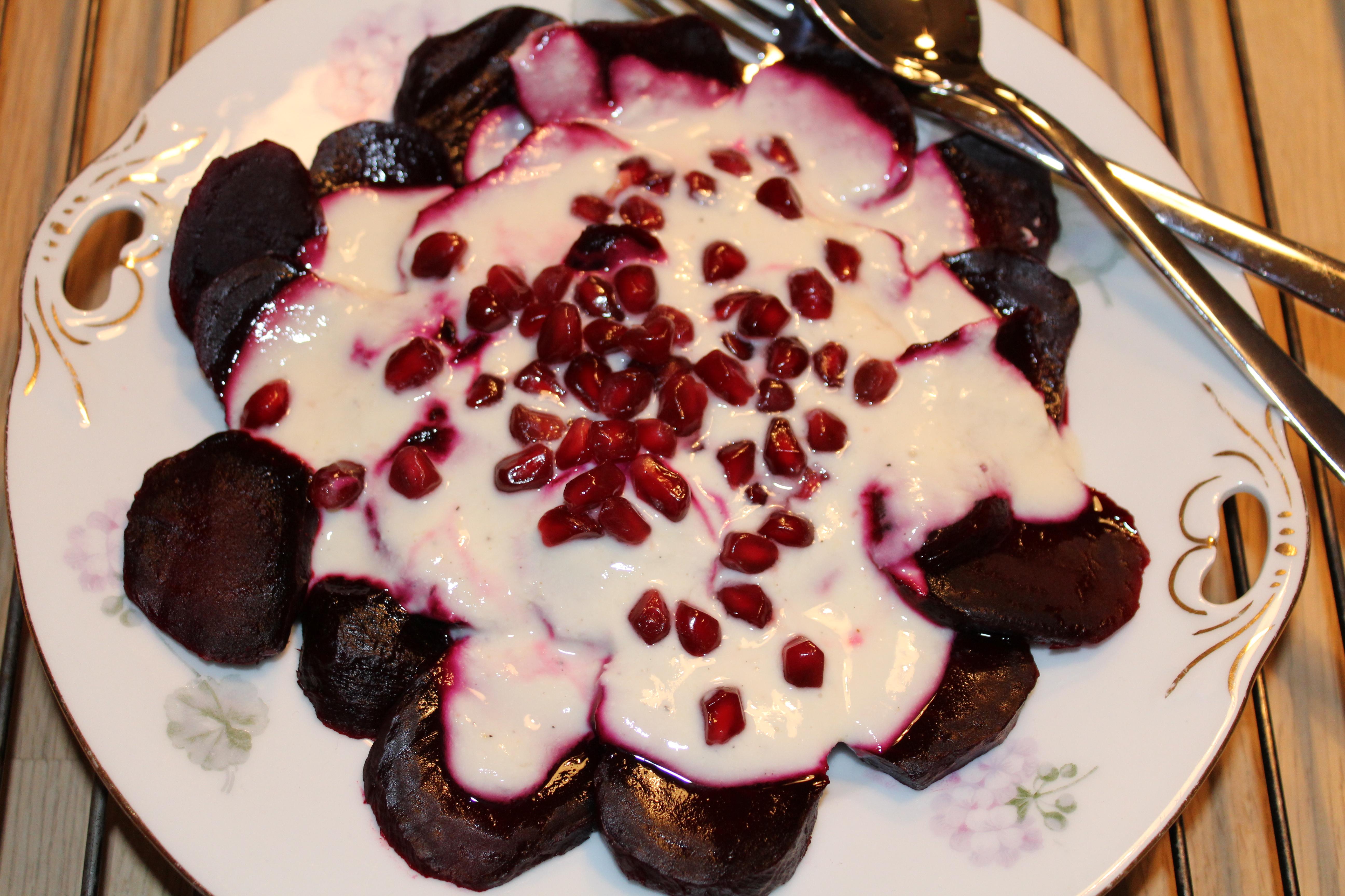 Rødbeder med peberodcreme