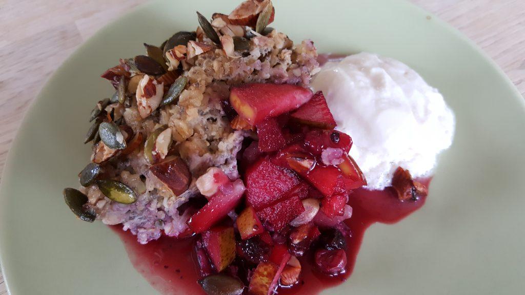 Lørdags forkælelses morgenmad: Bagte bær