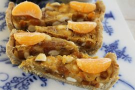 Vegansk mandel-appelsintærte