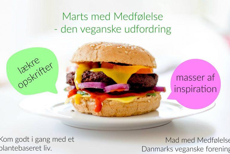 Mad med medfølelse - Danmarks veganske forening - afholder Marts med medfølelse