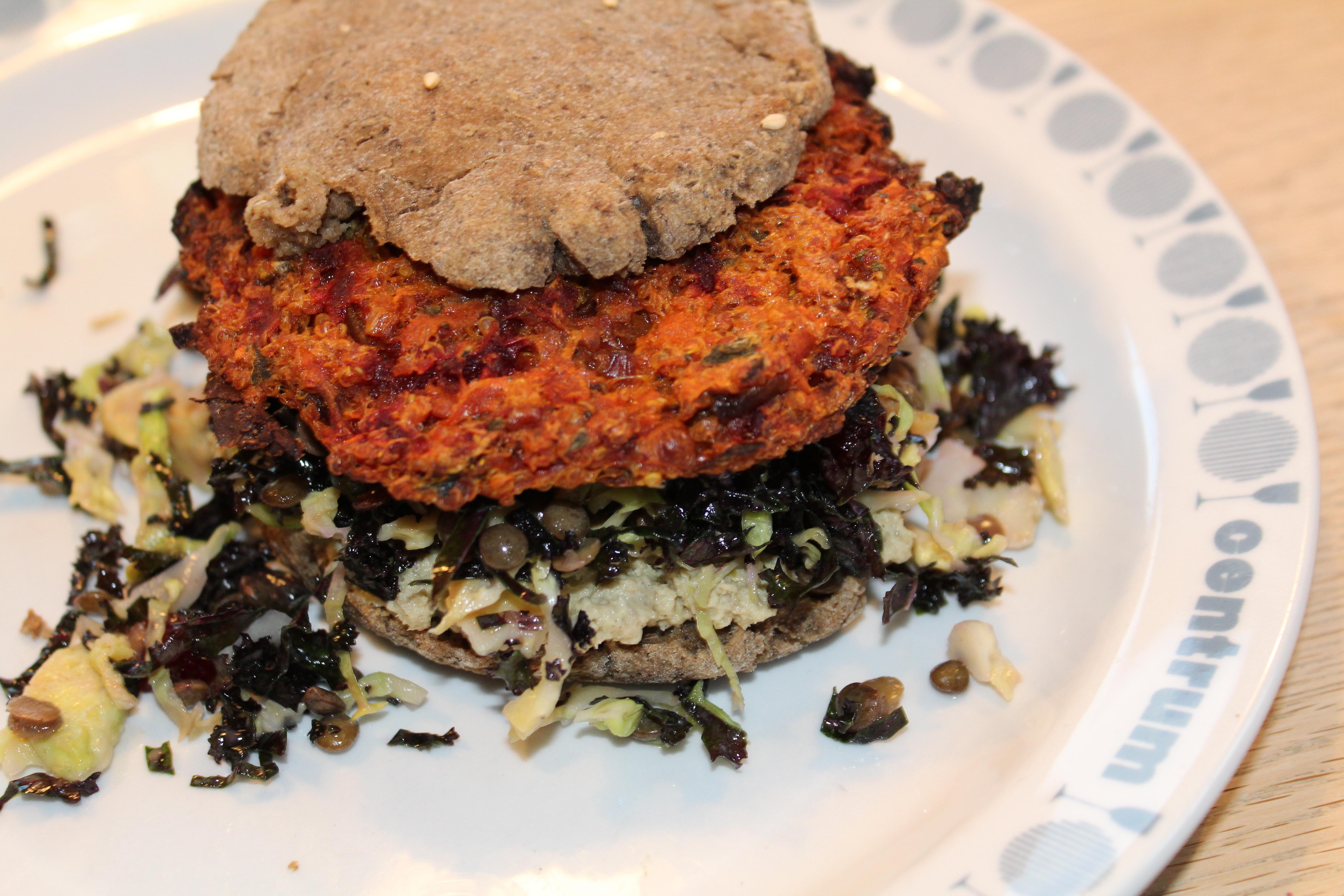Burger med quinoabøf