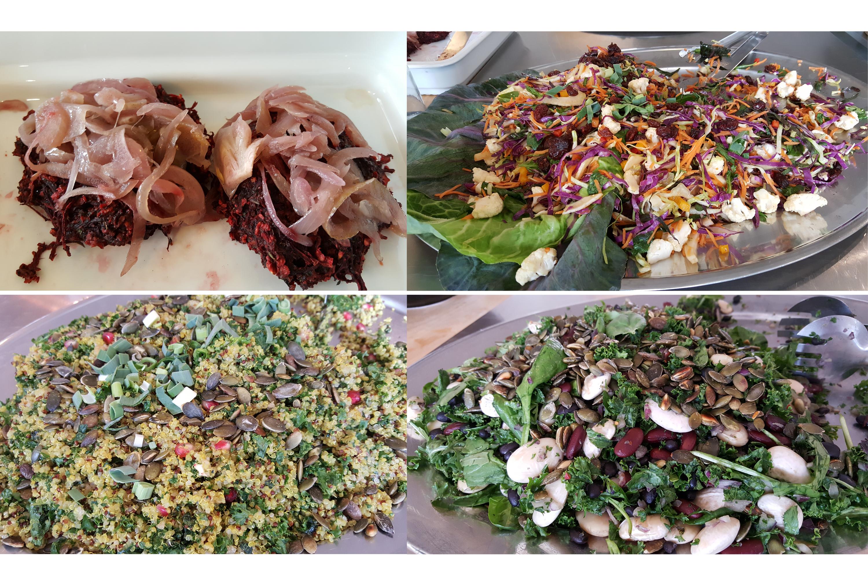 Billeder fra frokostbuffeten på Kostakademiet