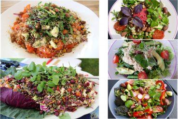Grøn mad med grønt på