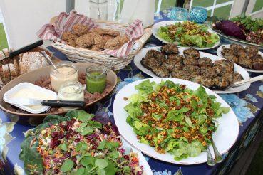 Vegansk buffet til pinsekomsammen i familien