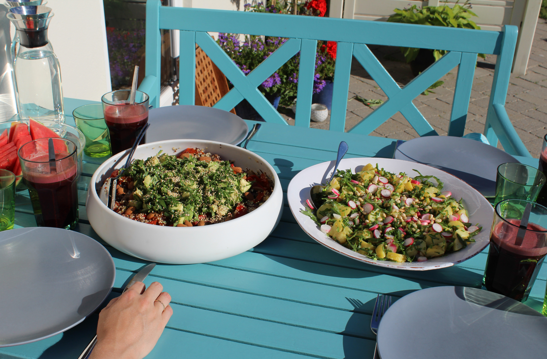 Sommermad på terrassen