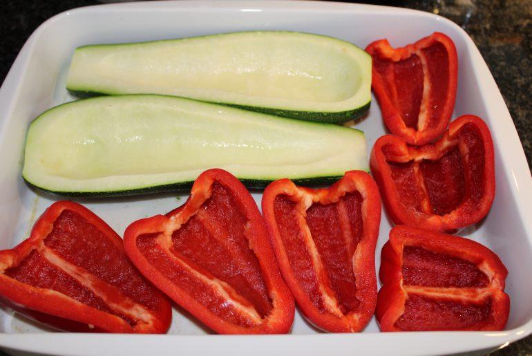 Vegansk farserede grøntsager