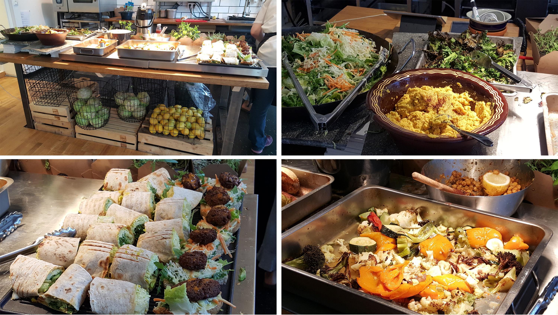 Vegansk buffet, Reaturant Hagen Bakklandet
