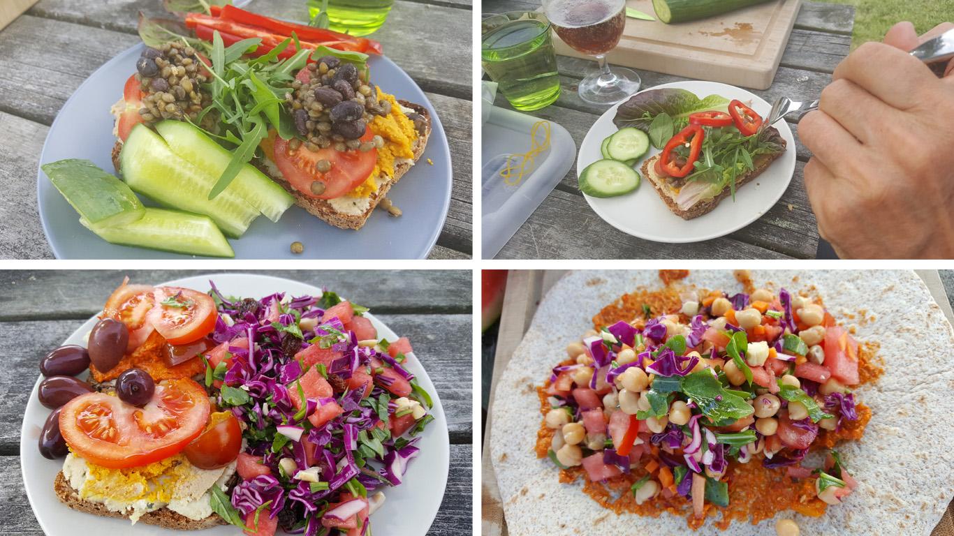 Vegansk frokost på camping