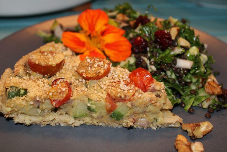 Vegansk squashtærte
