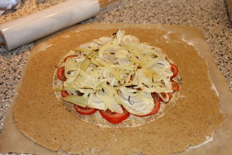 Galette med tomater og fennikel