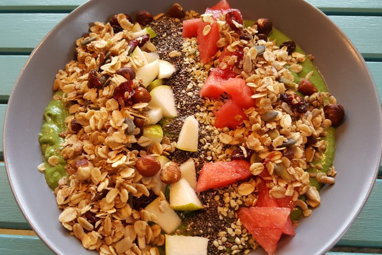Grøn smoothiebowl