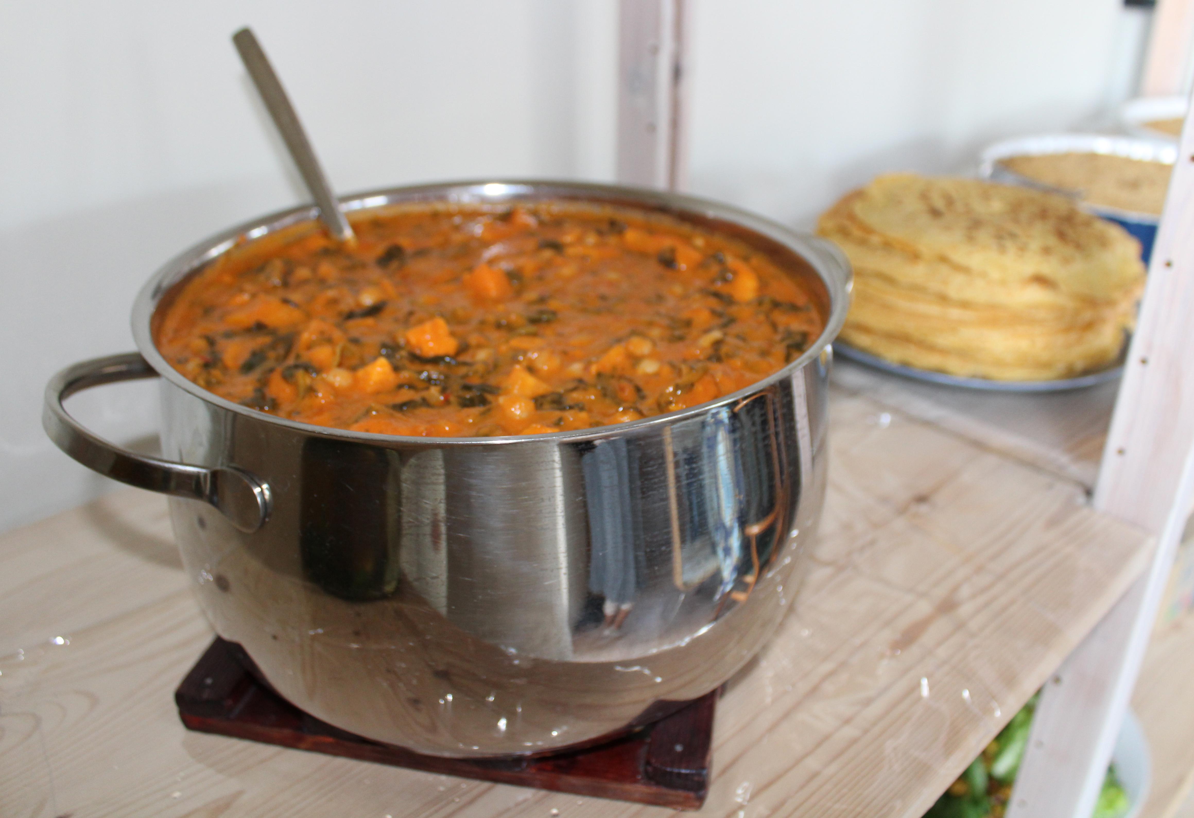 Indisk curry som pandekagefyld til hovedret