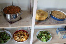 Vegansk buffet til pinsefest