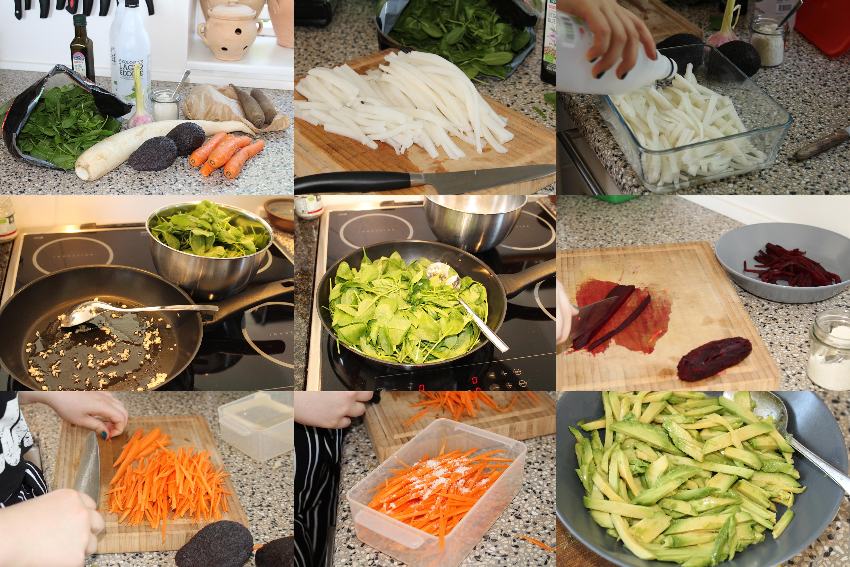 Forberedelser til kimbap