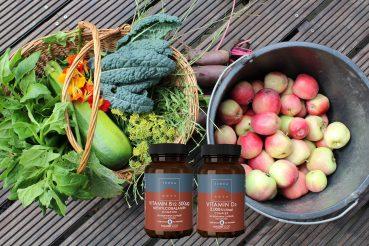 Farverige råvarer til plantebaserede måltider og veganske vitaminer fra Terranova