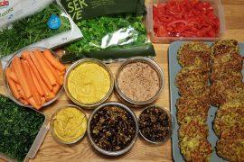 Food prepping til frokost/madpakker