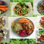 Vegansk frokost collage