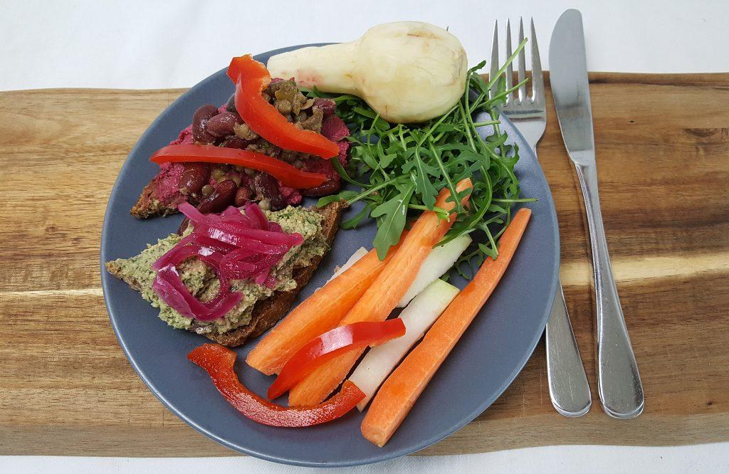 Frokost med foodpreppet pålæg