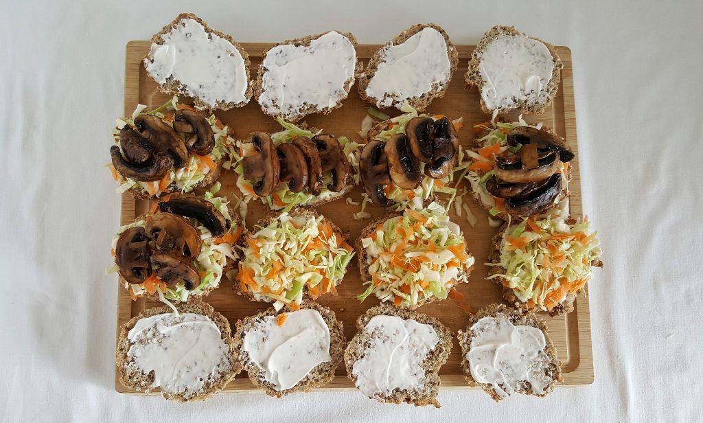 Sandwich med portobellosvampe