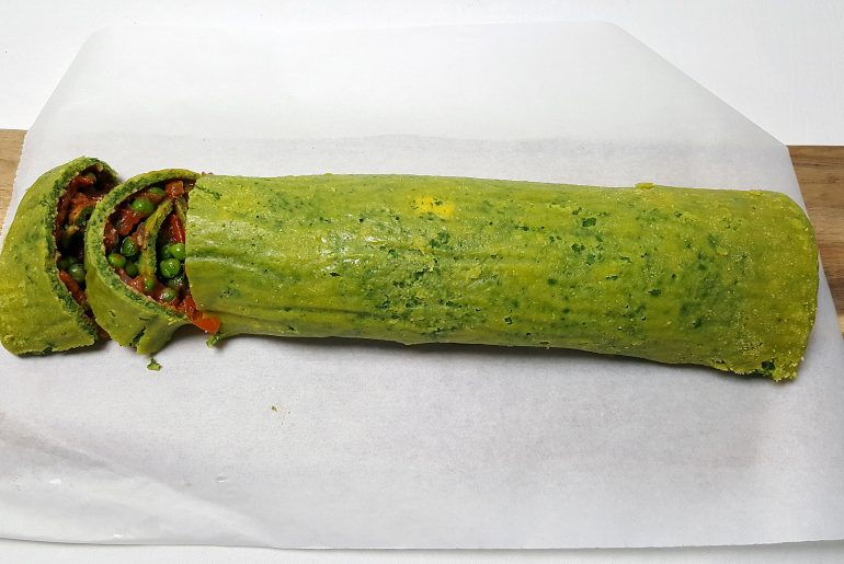 Spinatomelet roulade