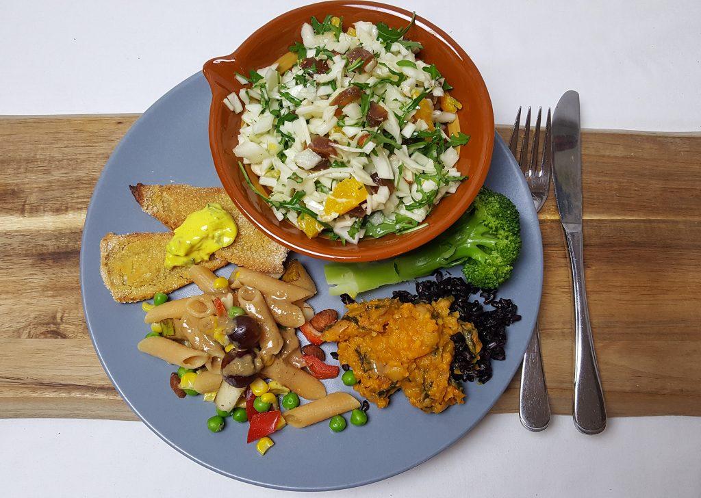 Restemad + kålsalat