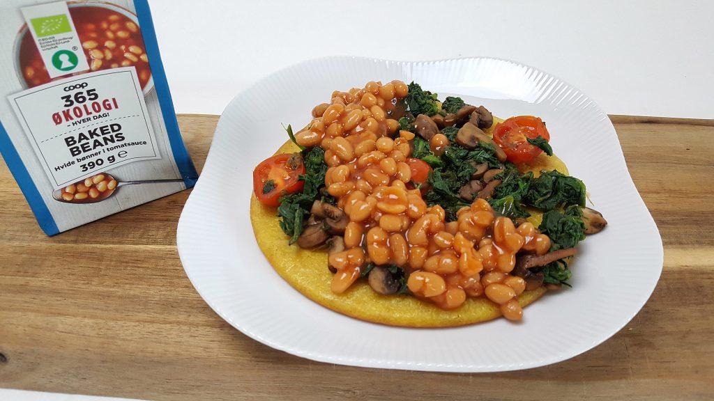 Morgenmadssocca med baked beans