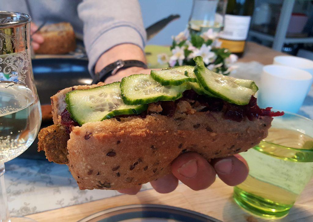 5 års fødselsdag med falafelwurst